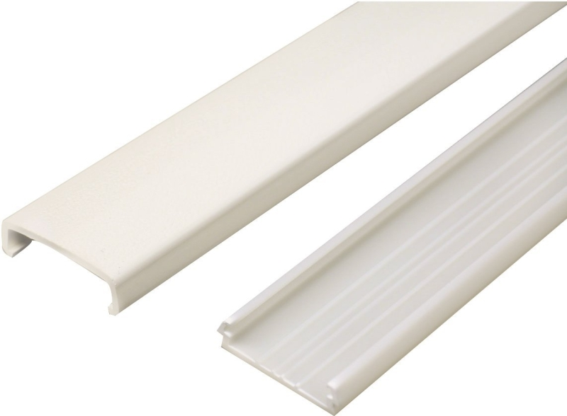 Legrand NM1 Wiremold Non-Metallic PVC Raceway Wire Channel, Ivory PVC, 1-5/16 in W x 60 in L - CBS BAHAMAS LTD