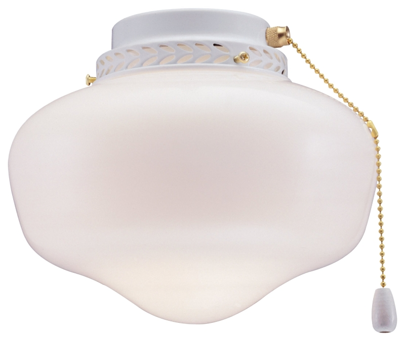 Boston Harbor CF-9SLK-WH 9 in Schoolhouse Ceiling Fan Light Kit, White Finish - CBS BAHAMAS LTD