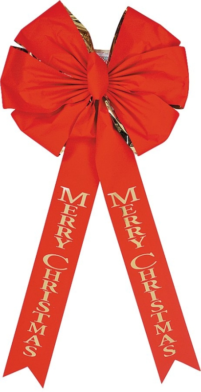 Holidaytrims 6016 Deluxe Outdoor Red & Gold Velvet Bow, 18 in x 36 in - CBS BAHAMAS LTD