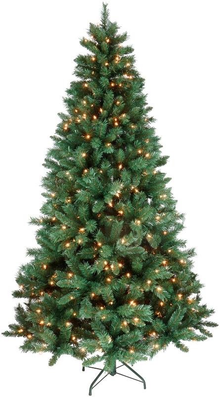 Santa's Forest 09740 Flocked PVC Fir Pre-Lit Artificial Christmas Tree, Clear Lights, 4 ft - CBS BAHAMAS LTD