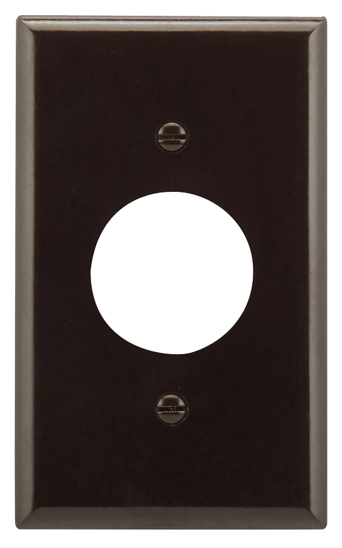 Eaton Wiring Devices 2131B-BOX Standard-Size Single Receptacle Wallplate, 1-Gang, Thermoset, Brown - CBS BAHAMAS LTD