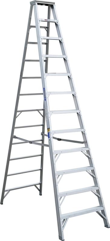 WERNER 412 12 ft Step Ladder, Aluminum, 375 lb Capacity - CBS BAHAMAS LTD