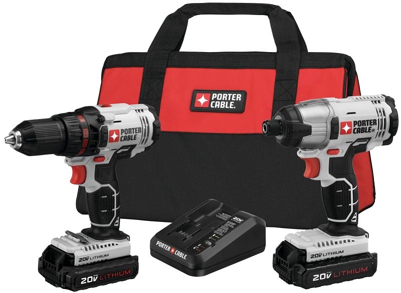 Porter-Cable 20V MAX Cordless Drill & Impact Driver Combo Kit (PCCK604L2) - CBS BAHAMAS LTD