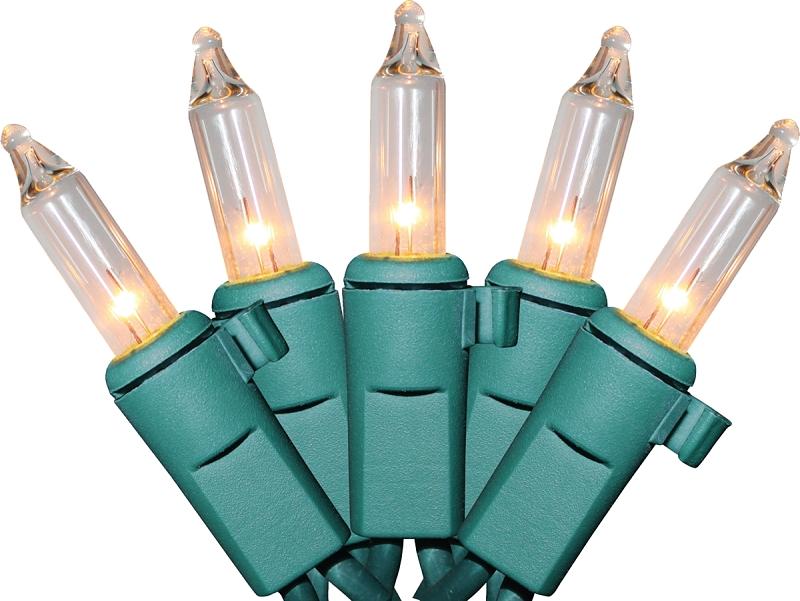 Sylvania Clear Mini Light Set, Green Wire, 100 Lights - CBS BAHAMAS LTD