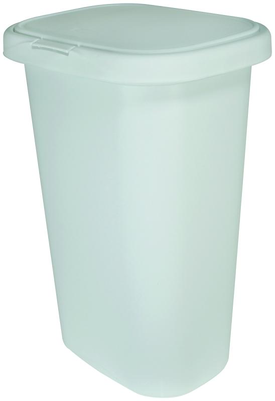 Rubbermaid Spring-Top Waste Basket, 13 Gal Capacity, White Plastic - CBS BAHAMAS LTD