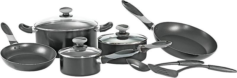 T-Fal Get-a-Grip 10-Piece Non-Stick Cookware Set, Black - CBS BAHAMAS LTD