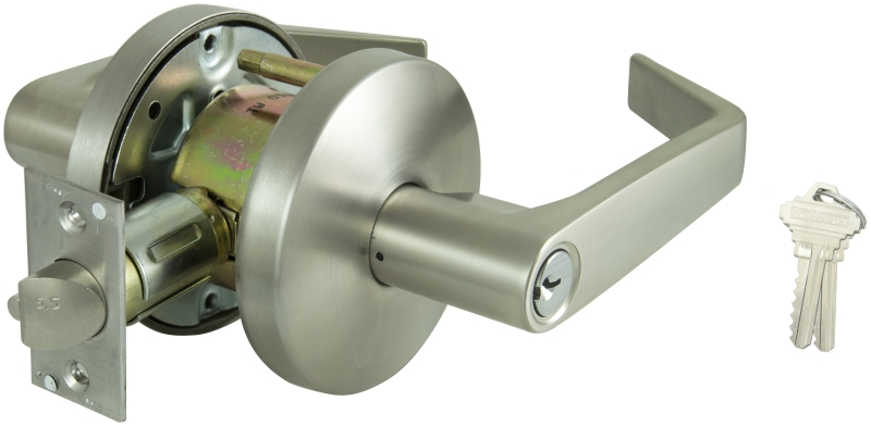 ProSource Commercial Keyed Entry Lever, ANSI Grade 2, Stainless Steel - CBS BAHAMAS LTD