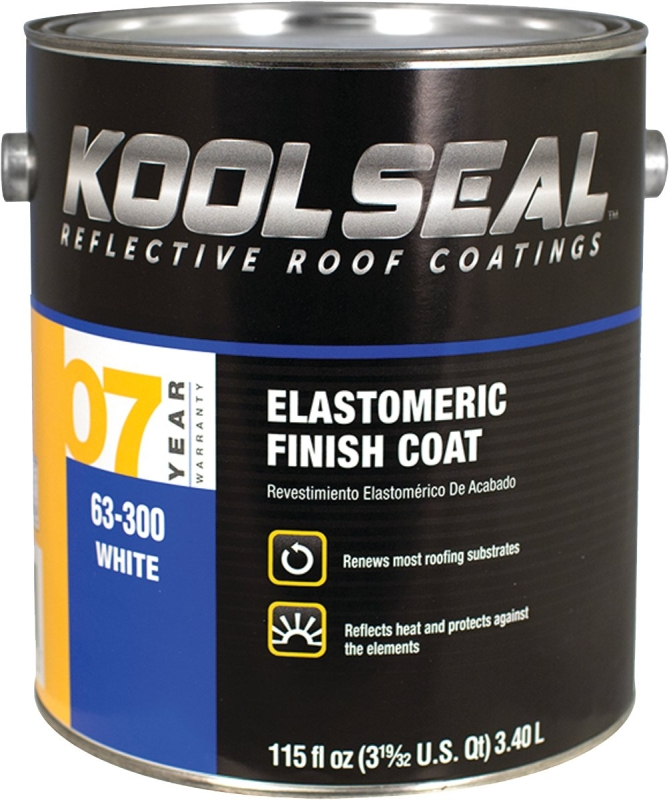 Kool Seal 7-Year Elastomeric Finish Coat, White, 0.9 Gal - CBS BAHAMAS LTD