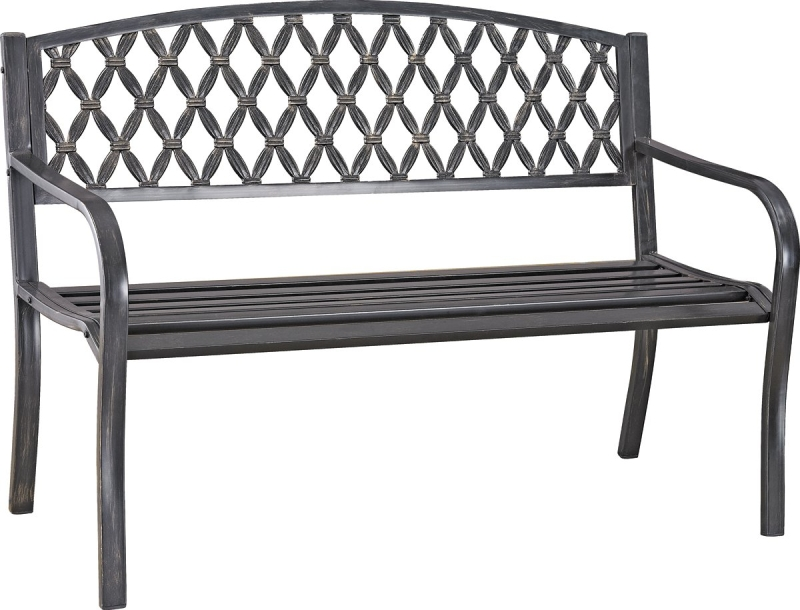 Seasonal Trends D3819C Antique Bronze Park Bench, Powder-Coated Steel - CBS BAHAMAS LTD