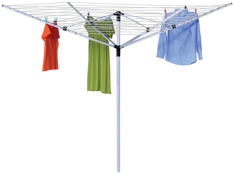 Honey-Can-Do DRY-05262 Outdoor Umbrella Shaped Clothes Dryer, In-Ground - CBS BAHAMAS LTD