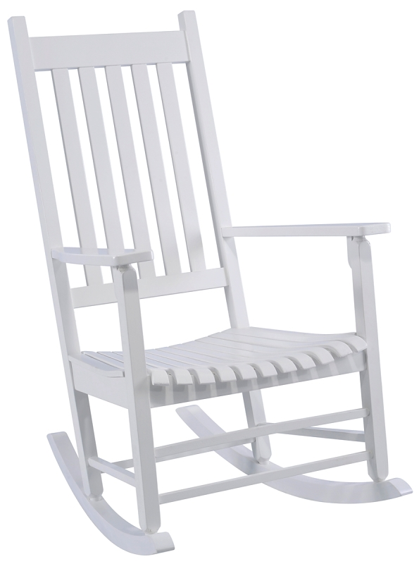 Seasonal Trends KN 28W White Rocking Box Chair, Indonesian Hardwood - CBS BAHAMAS LTD