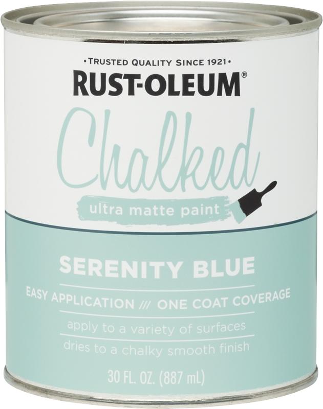 RUST-OLEUM 285139 Serenity Blue Chalked Paint, Ultra Matte, 30 oz Can - CBS BAHAMAS LTD
