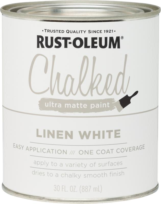 RUST-OLEUM 285140 Linen White Chalked Paint, Ultra Matte, 30 oz Can - CBS BAHAMAS LTD