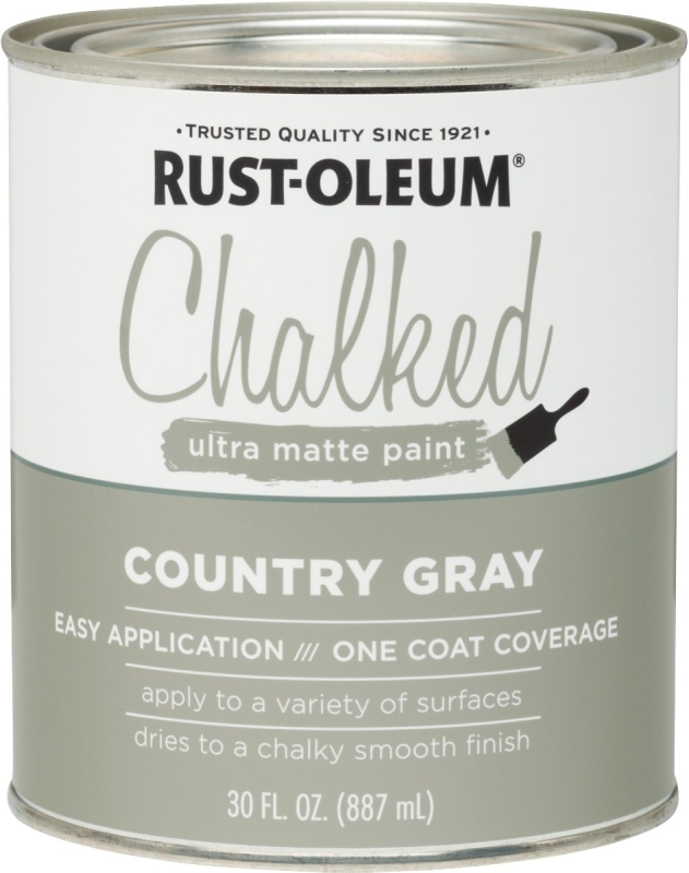 RUST-OLEUM 285141 Country Gray Chalked Paint, Ultra Matte, 30 oz Can - CBS BAHAMAS LTD