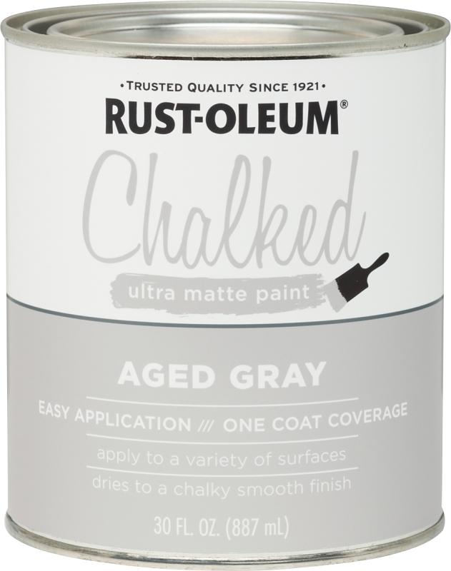RUST-OLEUM 285143 Aged Gray Chalked Paint, Ultra Matte, 30 oz Can - CBS BAHAMAS LTD