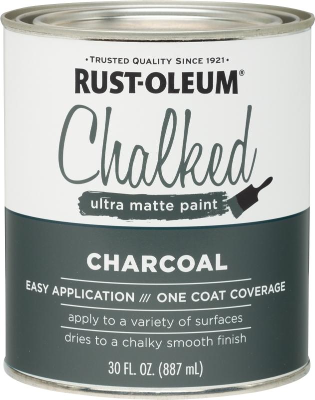 RUST-OLEUM 285144 Charcoal Chalked Paint, Ultra Matte, 30 oz Can - CBS BAHAMAS LTD