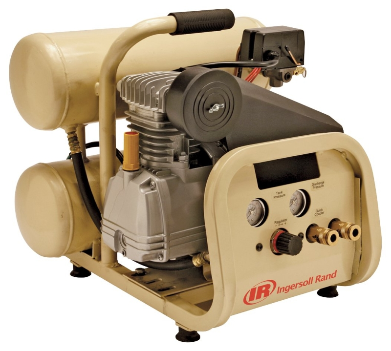 Ingersoll Rand P1IU-A9 2 HP Hand Carry Twinstack Compressor, 4 Gal, 135 PSI - CBS BAHAMAS LTD
