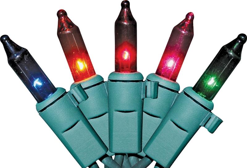 Sylvania Multi-Color Mini Light Set, Green Wire, 50 Lights - CBS BAHAMAS LTD