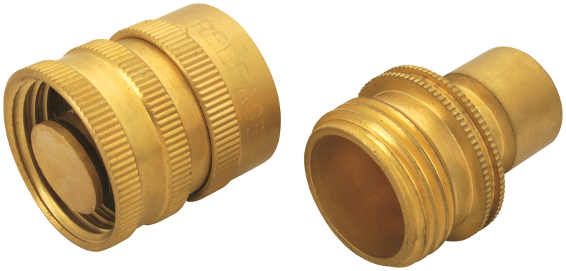 Landscapers Select GB9615 Hose Connector, 3/4 in Male and Female, Brass - CBS BAHAMAS LTD