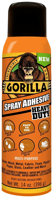 Gorilla Spray Adhesive, Clear, 14 oz Can - CBS BAHAMAS LTD