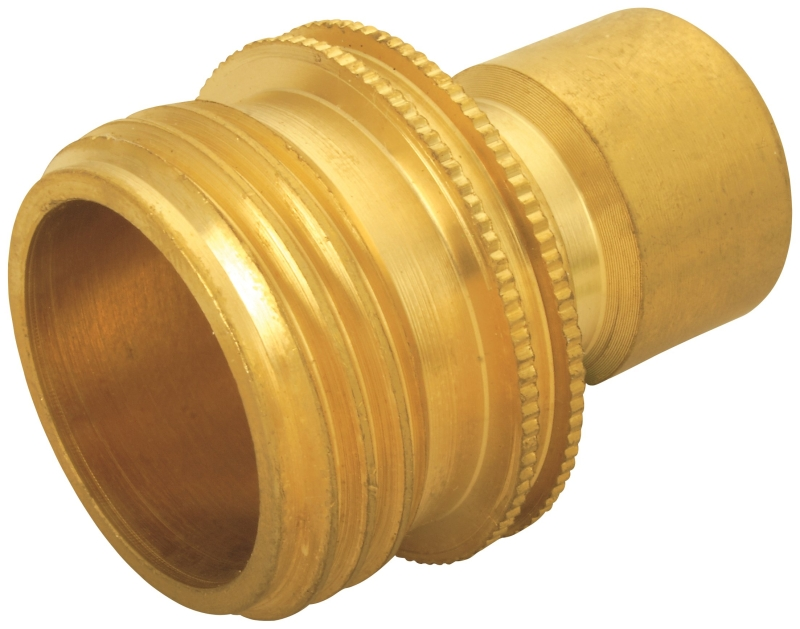 Landscapers Select GB9610 Hose Connector, 3/4 in Male, Brass - CBS BAHAMAS LTD