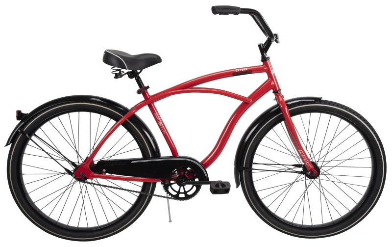 Huffy 66629 Men's Steel Frame Cruiser Bicycle, 26 in, Crimson - CBS BAHAMAS LTD