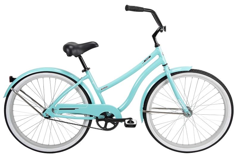 Huffy 66659 Women's Lightweight Aluminum Frame Cruiser Bicycle, 26 in, High Tide Teal - CBS BAHAMAS LTD