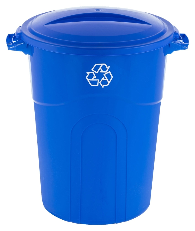 United Solutions TI0028 32 Gal Recycling Can, Blue - CBS BAHAMAS LTD