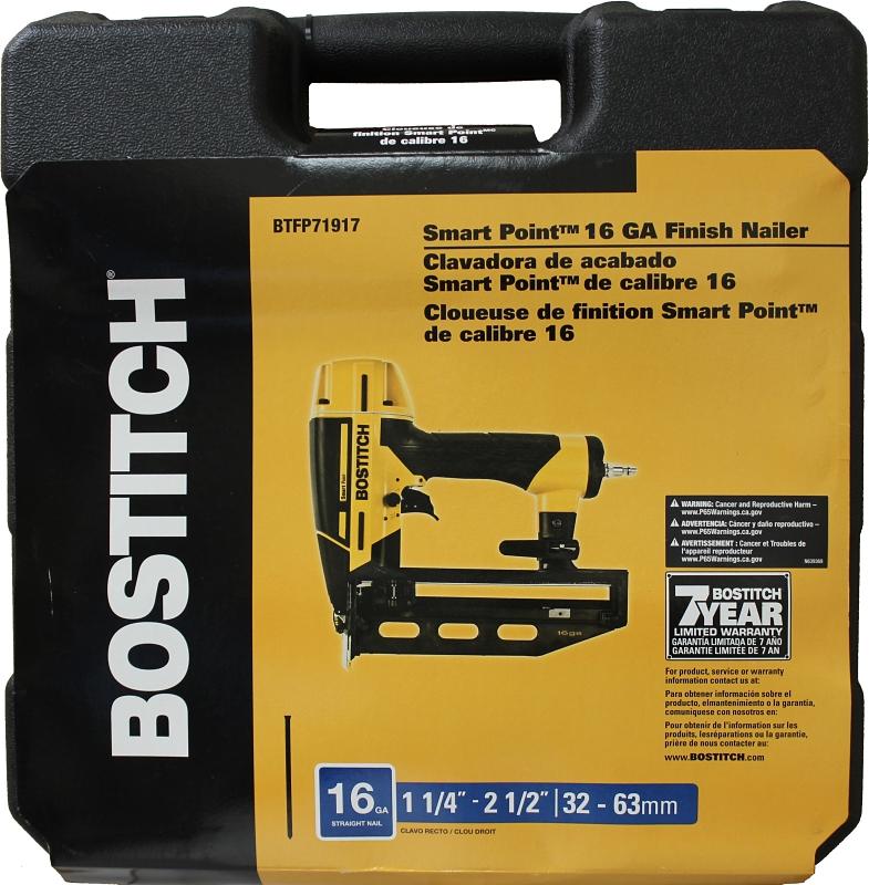Main 4 - Bostitch BTFP71917 Smart Point 16-Gauge Straight Finish Nailer Kit - CBS BAHAMAS LTD