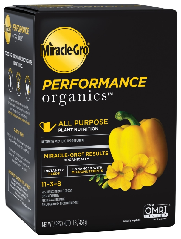Miracle-Gro Performance Organics Solid All Purpose Plant Nutrition, 1 lb - CBS BAHAMAS LTD