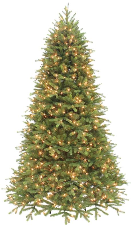 Puleo Asheville Fir Pre-Lit Artificial Christmas Tree, Clear Lights, 7-1/2 ft - CBS BAHAMAS LTD