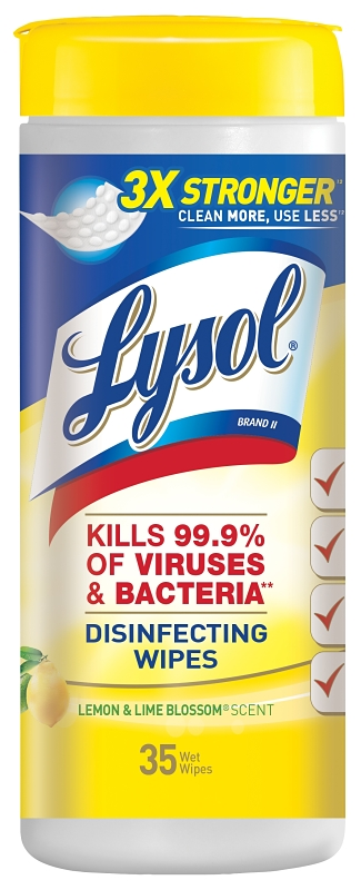 Lysol Disinfecting Wipes, Lemon & Lime Blossom (35-Count) - CBS BAHAMAS LTD