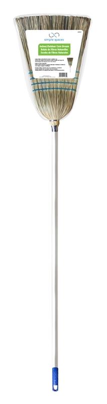 Simple Spaces 502 Heavy-Duty Corn Bristle Broom, Aluminum Handle - CBS BAHAMAS LTD