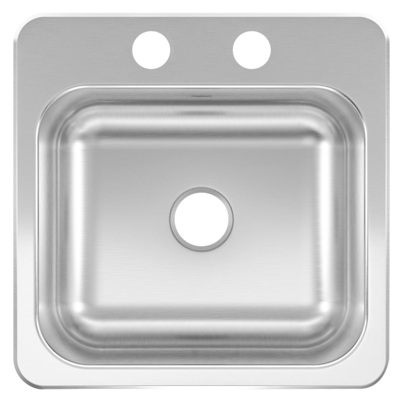 KINDRED Single Bowl 20-ga Stainless Steel Top-Mount Bar/Utility Sink, 2-Hole, 15 in x 15 in x 6 in - CBS BAHAMAS LTD
