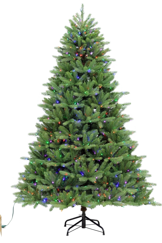 Puleo Ontario Fir Pre-Lit Artificial Christmas Tree, Color Changing LED, 7-1/2 ft - CBS BAHAMAS LTD