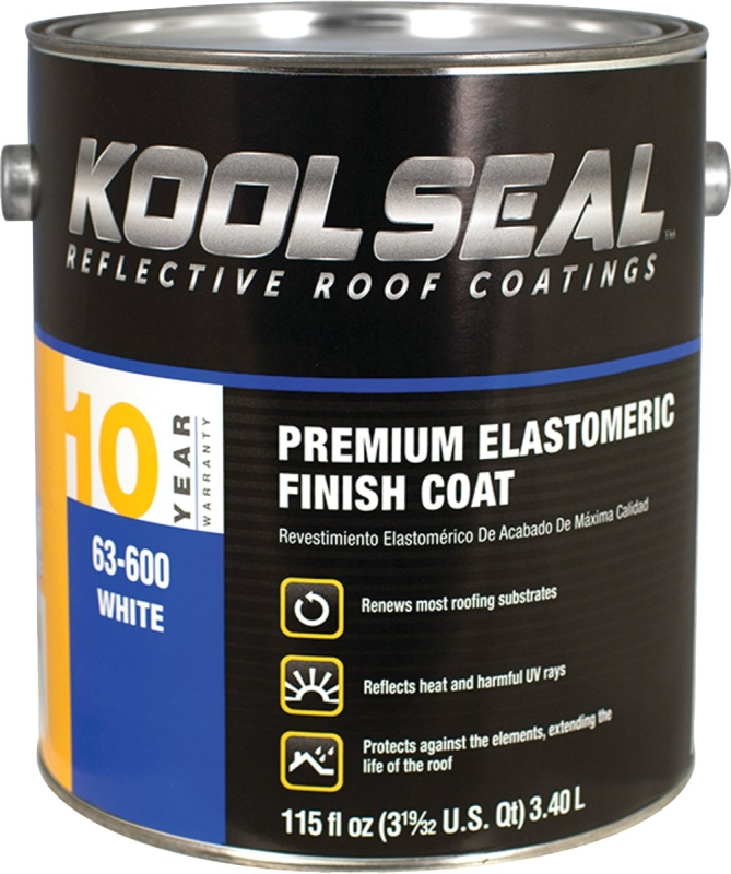 Kool Seal 10-Year Premium Elastomeric Finish Coat, White, 1 Gal - CBS BAHAMAS LTD