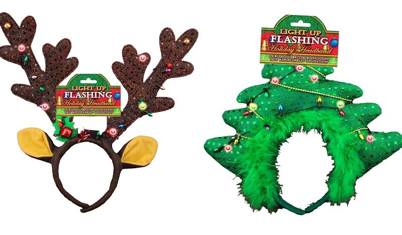 Santa's Forest Light Up Flashing Holiday Headband, Assorted Styles - CBS BAHAMAS LTD