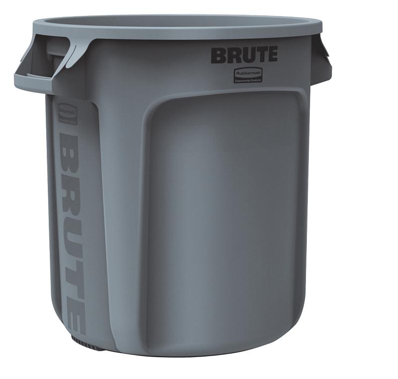Rubbermaid BRUTE 10 Gal Trash Can Gray - CBS BAHAMAS LTD