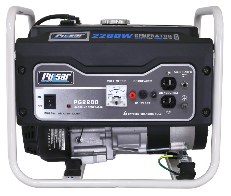 Pulsar PG2200R 1600/2200W Portable Gas Generator, 120 VAC/12 VDC - CBS BAHAMAS LTD