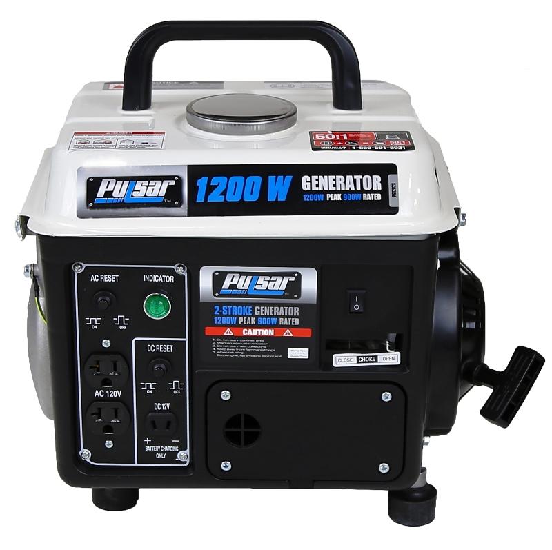 Pulsar PG1202SA 850/1200W Portable Gas Generator, 120v - CBS BAHAMAS LTD
