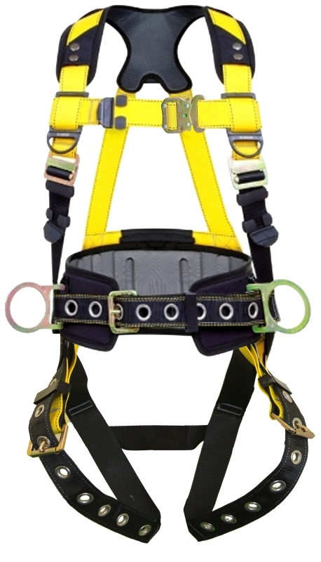 HARNESS WITH WAIST PAD MED-L