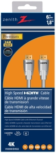 Zenith VH3006HDHS2 6 ft Premium High-Speed HDMI Cable with Ethernet - CBS BAHAMAS LTD