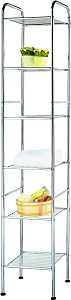 Simple Spaces BC45C-CH Bath Shelf, 6-Shelf, Steel, Polished Chrome - CBS BAHAMAS LTD