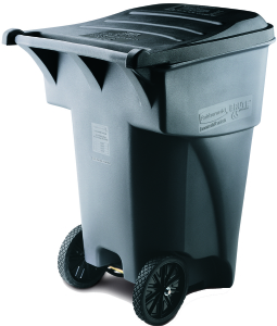 Rubbermaid BRUTE 95 Gal Rollout Trash Can with Lid, Gray - CBS BAHAMAS LTD
