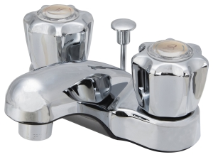 Boston Harbor PF4201RC Two-Handle Non-Metallic Lavatory Faucet with Pop-Up Drain, Chrome Finish - CBS BAHAMAS LTD