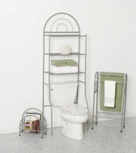 Zenna Home Bath-In-A-Box BBN25 Bathroom Shelving Kit, Pearl Nickel - CBS BAHAMAS LTD
