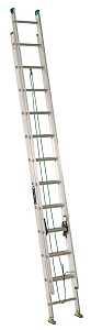 Louisville AE4224PG 24 ft Extension Ladder, Aluminum, 225 lb Capacity - CBS BAHAMAS LTD